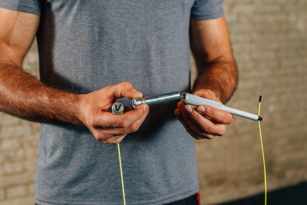 What are the ballasts used for in the jump rope?