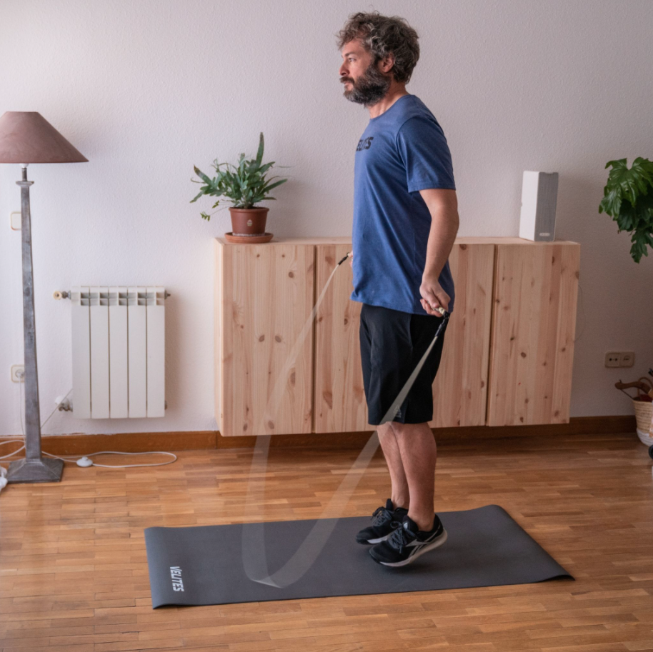 Use an Anti-Slip Jump Mat and don't break any more ropes